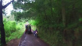 Driving through the countryside from Java in Indonesia stock video footage