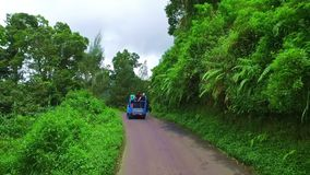 Driving through the countryside from Java in Indonesia stock footage
