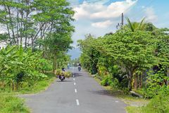 Driving in the countryside from Lombok in Indonesia. Asia Royalty Free Stock Photo
