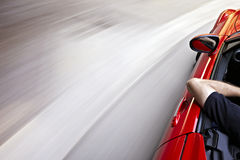 Driving in a curve Royalty Free Stock Images
