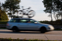 Driving for the cycling Royalty Free Stock Image
