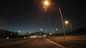 Driving at Dawn stock video footage