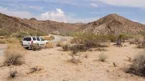 Driving through the desert in California US Stock Image