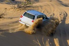 Driving on Desert Safari royalty free stock images