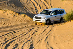 Driving on Desert royalty free stock photography