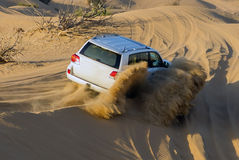 Driving on Desert Safari Royalty Free Stock Images