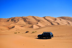 Driving in the desert Stock Photography