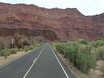 Driving through the desert in the summertime stock video