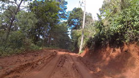 Driving on dirt road. HD stock video footage