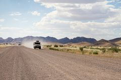Driving in a dirt road Stock Photos