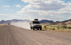 Driving in a dirt road Stock Photography