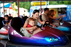 Driving Dodgem Royalty Free Stock Photos