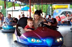 Driving Dodgem Stock Photo