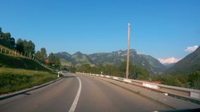 Driving Down the Road in Switzerland stock video
