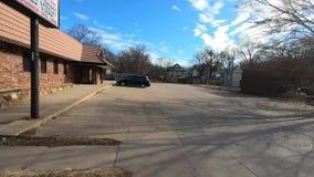 Old buildings in a rough neighborhood stock video footage