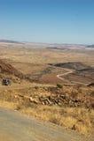 Driving Down The Desert Pass Stock Photo