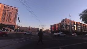 Driving through downtown Phoenix, Arizona,USA stock video