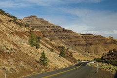 Driving in eastern Oregon Stock Photography