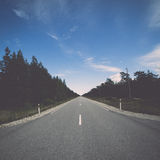 Driving empty highway in summer Stock Photography
