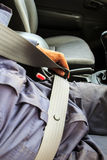 Driving expected belts for safe driving. Royalty Free Stock Image