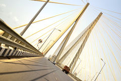 Driving on the famous Bandra-Worli Sea link bridge Stock Photography