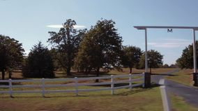 Driving by a farm in Oklahoma - beautiful countryside