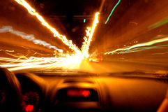 Driving fast. To reach your goal Stock Images