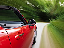 Driving fast Royalty Free Stock Photo