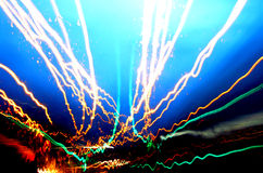 Driving fast 2. City lights as a wire full of data Royalty Free Stock Photos