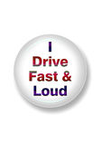 Driving fast and loud. Royalty Free Stock Photography