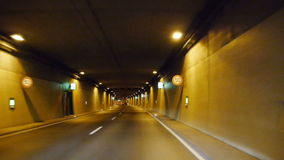 Driving fast through a tunnel stock video footage