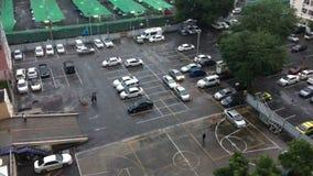 Driving flooding bangkok thailand stock video