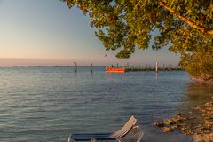 Driving on Florida Keys. Exposure done in this beautiful island of the Keys, USA.Shot with Canon 5D Mark III, and low ISO, lightly processing for taking royalty free stock images