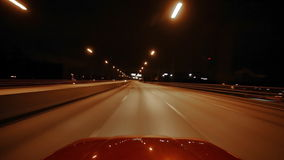 Driving on Freeway stock video footage