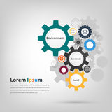 Driving gears in business environment Stock Images