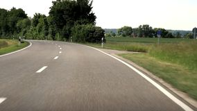 Driving in Germany stock video footage