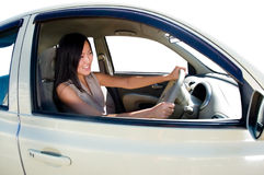 Driving girl Royalty Free Stock Photography