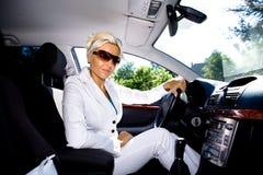 Driving girl Stock Photo