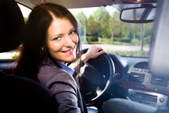 Driving girl Stock Photos