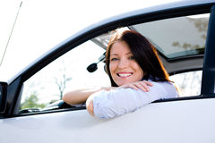 Driving girl Stock Images