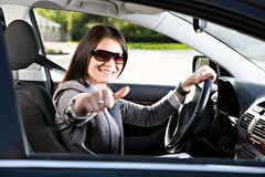 Driving girl Stock Photos