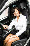 Driving girl Royalty Free Stock Images