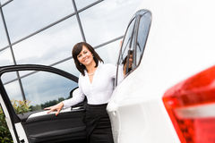 Driving girl Stock Photography