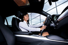 Driving girl Royalty Free Stock Photo