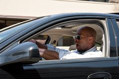 Driving Has Road Rage Stock Image