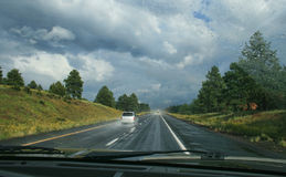 Driving in Hazardous Conditions Stock Photo