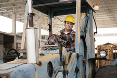 Driving Heavy Equipment royalty free stock photography