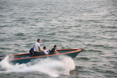 Driving High-speed speedboats in SHENZHEN. Under the action of strong driving force, speedboats forward at a high speed in the sea Stock Photography