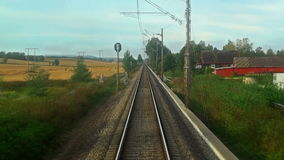 Driving the high speed train stock video footage