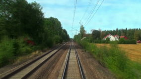 Driving the high speed train stock video
